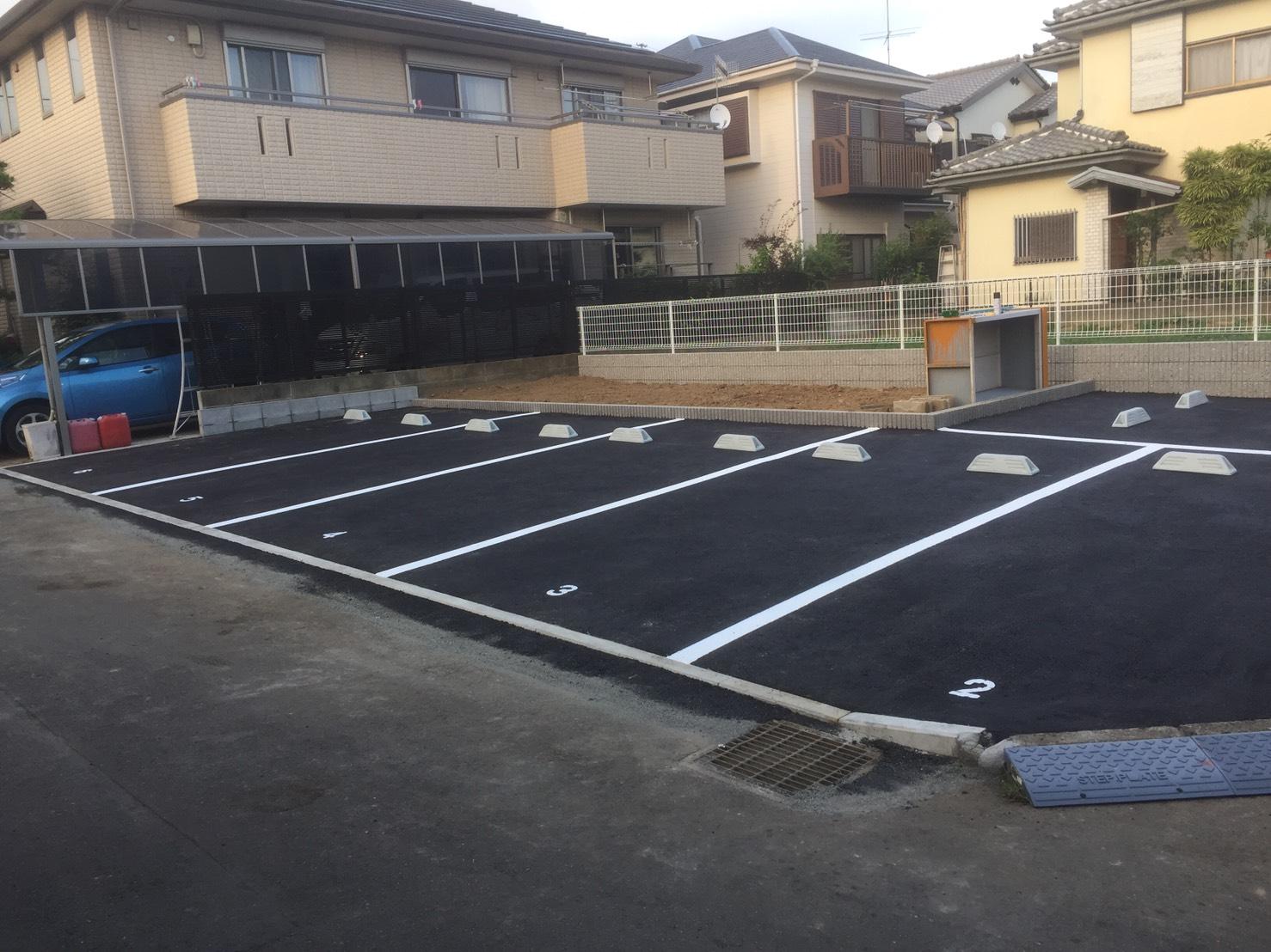 茅ヶ崎市高田 駐車場舗装工事