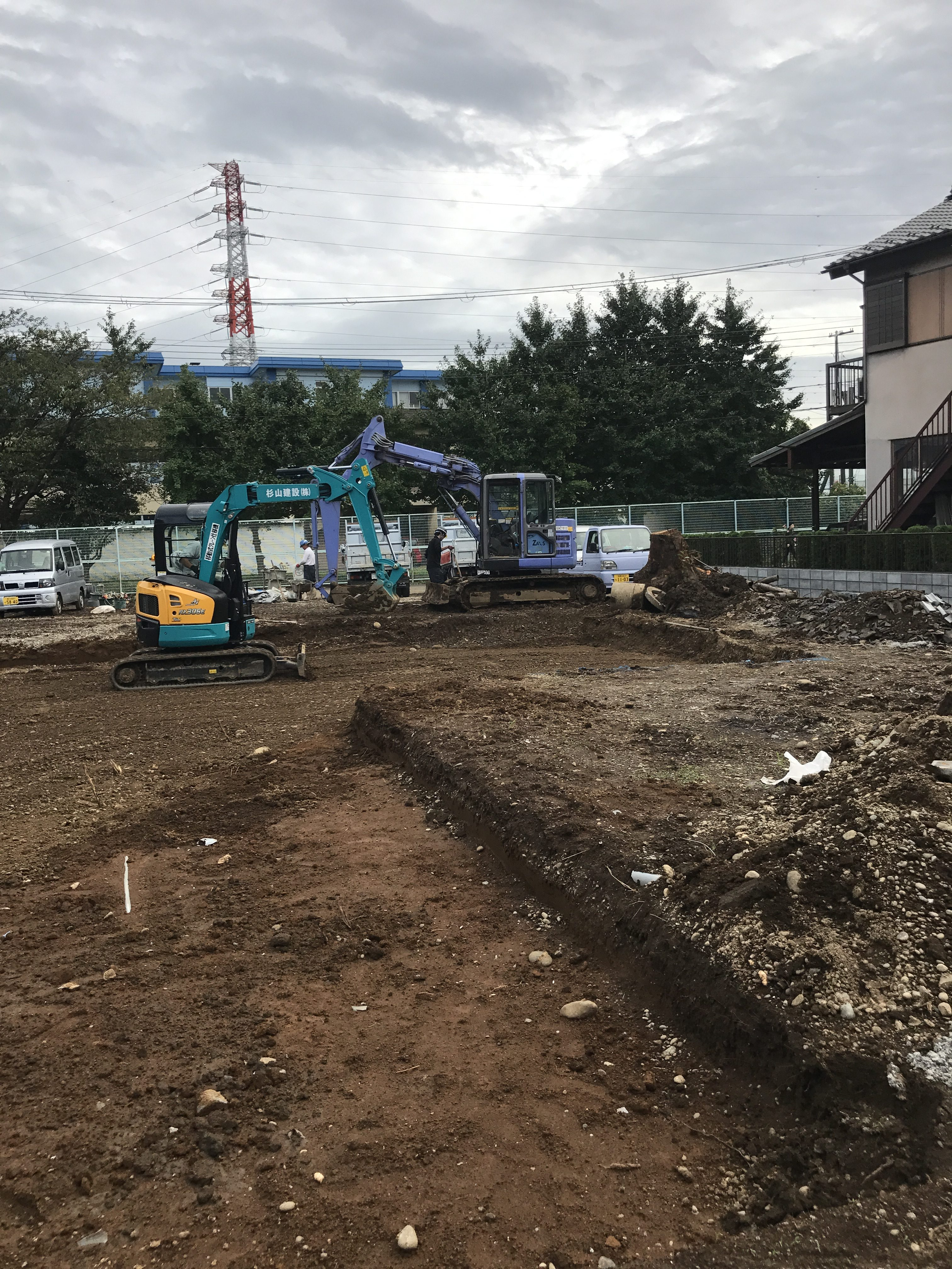 寒川U様邸新築アパート先行外構工事