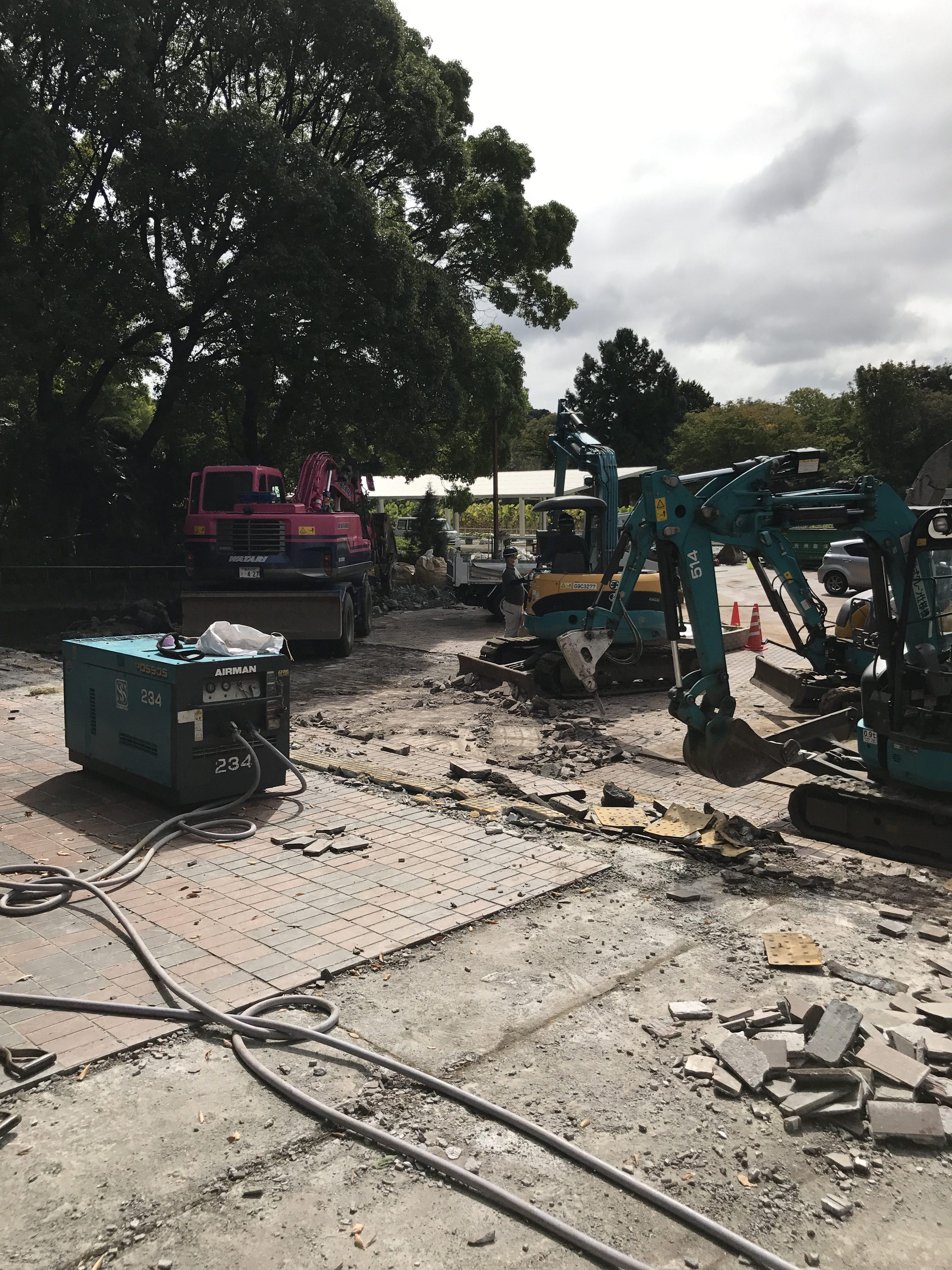 大船フラワーセンター解体工事