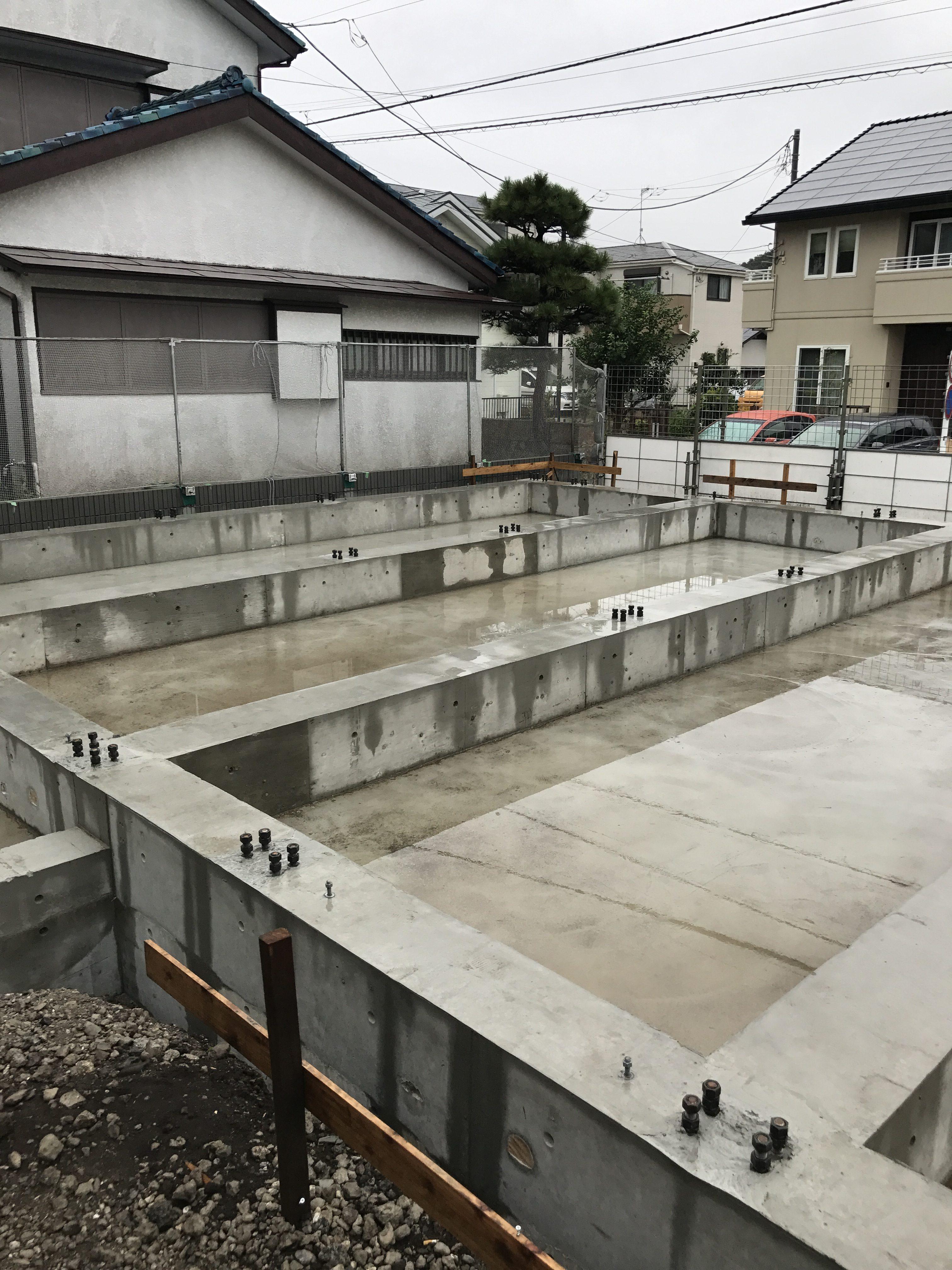 藤沢市藤が岡新築アパート基礎工事