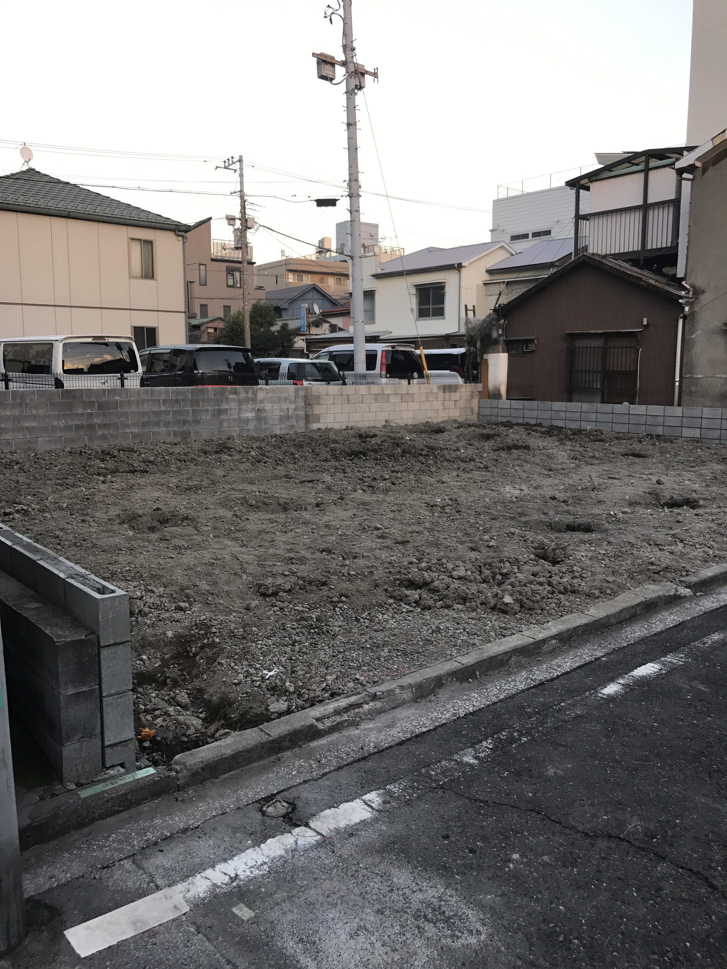 鶴見区本町通りO様邸新築アパート先行外構工事